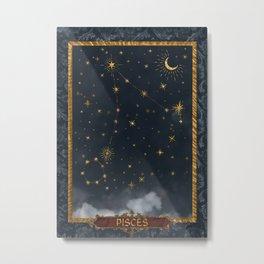 Pisces Constellation Renaissance Tableaux  Metal Print