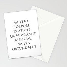 Multa e corpore existunt quae acuant Stationery Cards