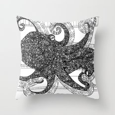 Mr. Octo Throw Pillow