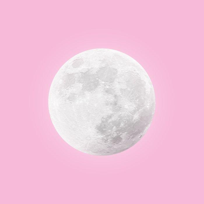 WHITE MOON + PINK SKY Duvet Cover