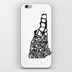 Typographic New Hampshire iPhone & iPod Skin