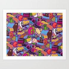 G Pattern Art Print