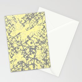 Soft Yellow Abstract Stationery Cards
