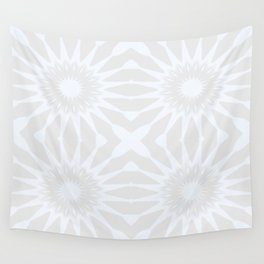 Gray pinwheel Flower Wall Tapestry