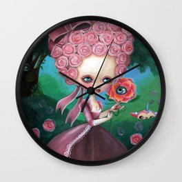Rose Marie Antoinette Wall Clock