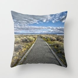 Mono Lake Trail Blue Sky And Clouds Throw Pillow