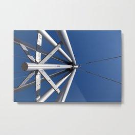 Sky and steel Metal Print