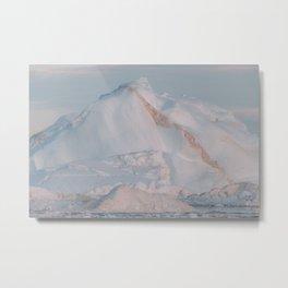 Magical Iceberg in Sunset Light - Landscape Photography Metal Print