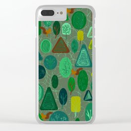 squirrel in forest Clear iPhone Case
