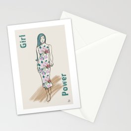 Girl Power - she walks with grace Stationery Cards