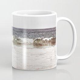 Neutral Ocean Landscape Photography, Grey Seascape Art, Gray Sea Beach Photo, Coastal Print Coffee Mug