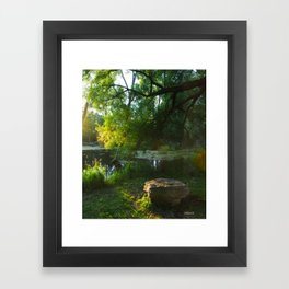 A nice place to relax Framed Art Print