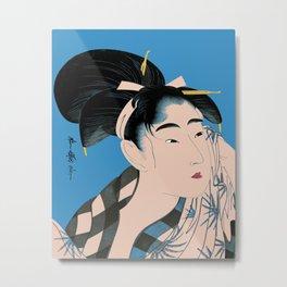 Utumaro #1 Blue Metal Print