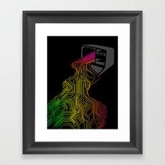 Digital Stream Framed Art Print
