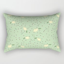 Lemon Dot - Green Rectangular Pillow