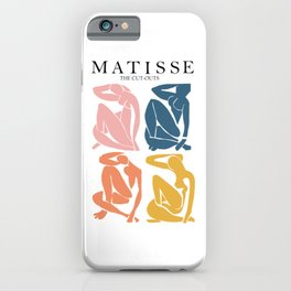 Abstract woman pastel color matisse woman artwork the cut outs iPhone Case
