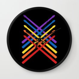 Retro Musician Drum Sticks Wall Clock