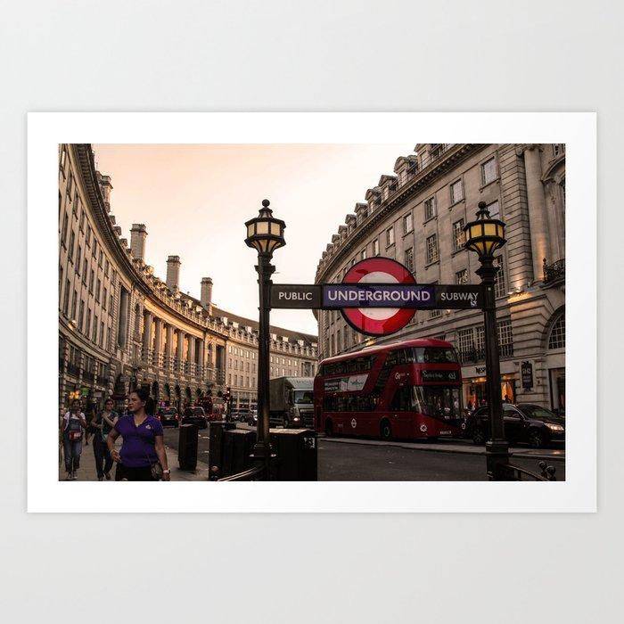 ArtWork London Piccadily Circus UK Photo Art Art Print