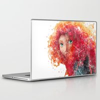 merida Laptop & iPad Skins featuring Brave Merida Disneys by Carma Zoe