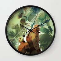 street fighter Wall Clocks featuring Street Fighter by jaimito