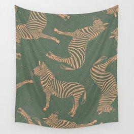 Safari Potpourri Peach Green Wall Tapestry