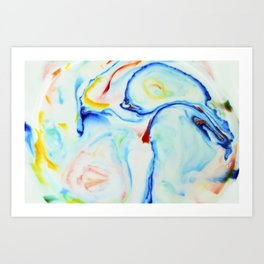 Milkblot No. 1 Art Print