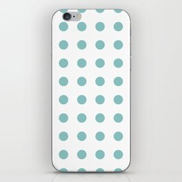 Chalky Blue Polka Dots iPhone Skin