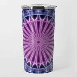 Pretty mandala in blue and violet tones Travel Mug