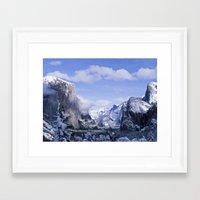yosemite Framed Art Prints featuring Yosemite by Ian Bevington