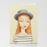 ginger Stationery Cards featuring Ginger by Seren Söyler