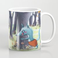 red hood Mugs featuring Red Riding Hood by Antoana Oreski Illustration