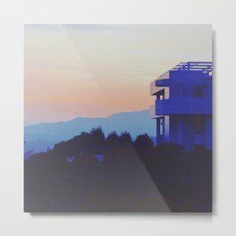 Sunset at the Getty Metal Print