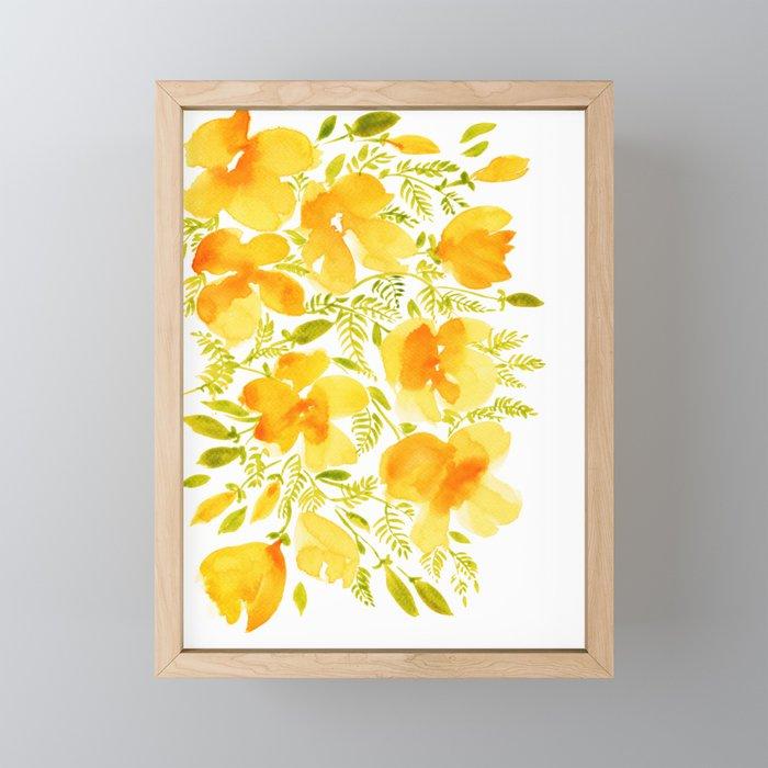 Watercolor California poppies (Quad set, #4) Framed Mini Art Print
