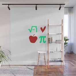 Funny Thanksgiving Math I Love Apple Pi or Pie Day Equation Wall Mural