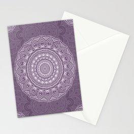 White Lace on Lavender Stationery Cards