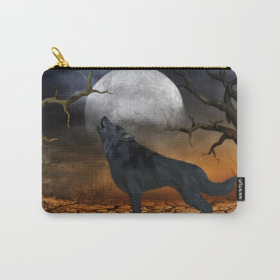The lonely wolf Carry-All Pouch