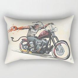 Devil's Ride Rectangular Pillow