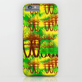 W - pattern wood 1 iPhone Case