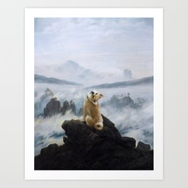 The Wanderer Above the Sea of Doge Art Print