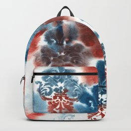 Damask: Red and Blue, Deteriorated Backpack