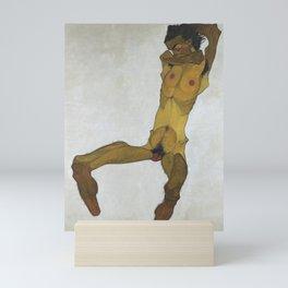 Seated Male Nude by Egon Schiele Mini Art Print