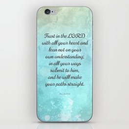 Proverbs 3:5-6, Encouraging Bible Quote iPhone Skin