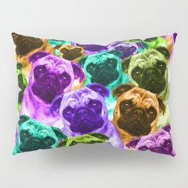 Colorful  Pug Pattern Pillow Sham