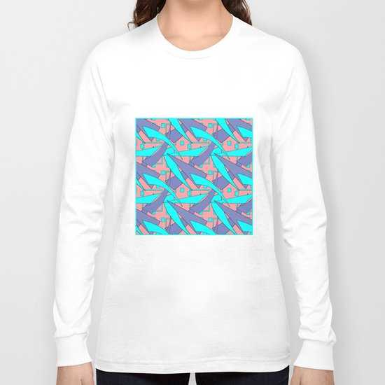 Creative abstract pattern . Geometric shapes . Long Sleeve T-shirt