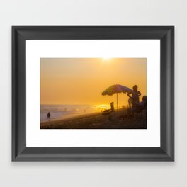 Americana Sunset Framed Art Print