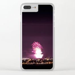 Arthurs Seat Fireworks Clear iPhone Case