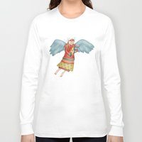 angel Long Sleeve T-shirts featuring Angel by Catru