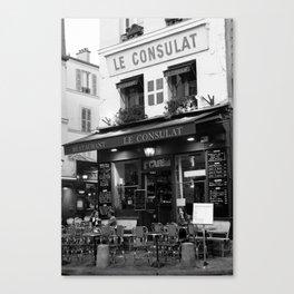 B&W Le Consulat Canvas Print