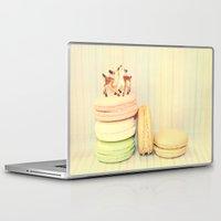 macarons Laptop & iPad Skins featuring Deer Macarons by Lisa Argyropoulos