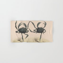 Vintage Illustration of Dancing Crabs (1849) Hand & Bath Towel